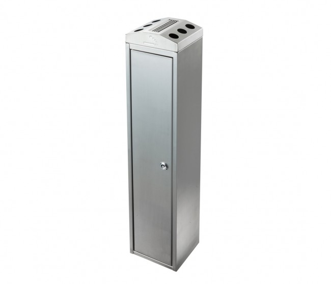 Stainless Steel Towers : Ash tower stainless steel bdf cigarette bins direct