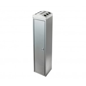 Ash Tower - Stainless Steel Free standing Cigarette Bin