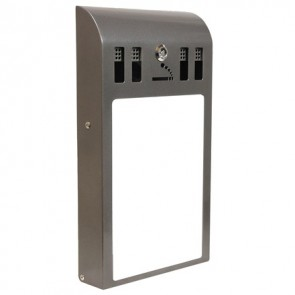 BDW14C Curved Adline - Cigarette Bin with A4 Display Panel