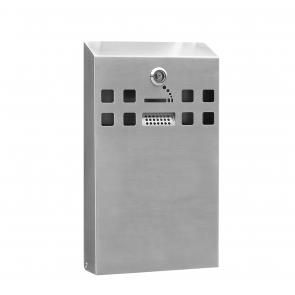 BDW04 Stainless Steel Slimline Cigarette Bin - Wall Mounted