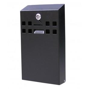 BDW05 Slimline Cigarette Bin (Black) - Wall Mounted